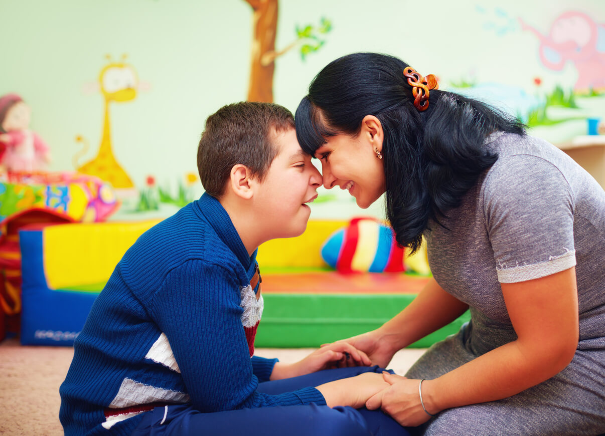 Child with Disability Receiving Support through Pediatric Home Care